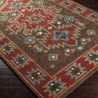 "The Curated Nomad Chaves Hand-tufted Chocolate Aztec Wool Area Rug - 3'3"" x 5'3"""