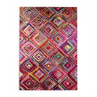 The Curated Nomad Alcatraz Endless Windows Multi Cotton Area Rug