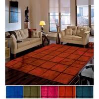 The Curated Nomad Rivoli Geometric Handmade Wool Area Rug - 8' x 11'