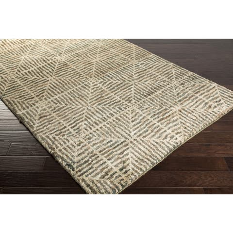The Curated Nomad Clarendon Geometric Hemp Hand-knotted Area Rug