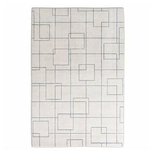 Strick & Bolton Mueck Trellis Design Modern Area Rug (Grey/Blue - 311 x 57)
