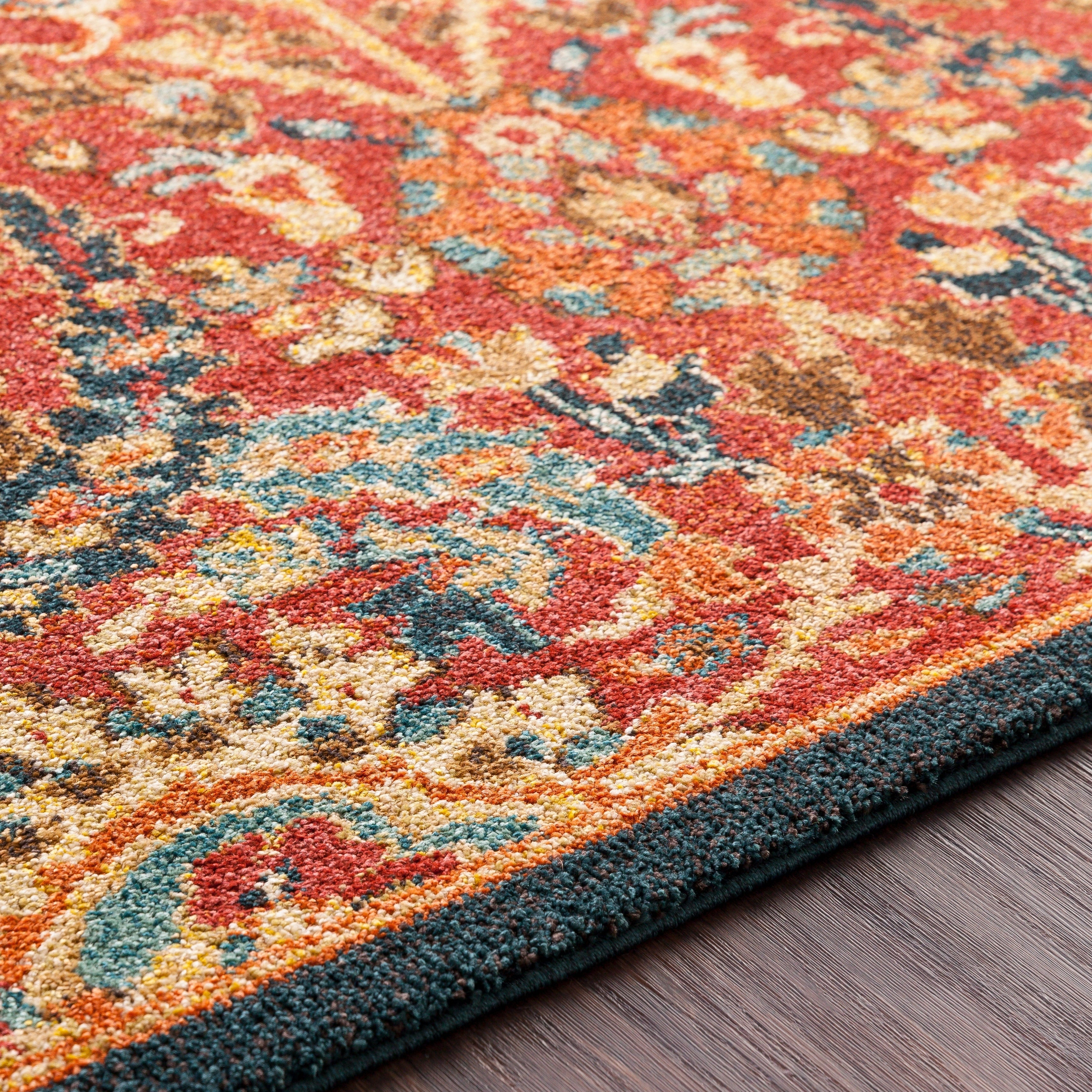 Gracewood Hollow Luci Traditional Floral Burnt Orange Area Rug 2 X 3 On Sale Overstock 20736265