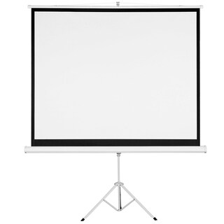 "120"" 4:3 Pull Up Tripod Projection Screen Portable Projector Projection Screen Matte White"