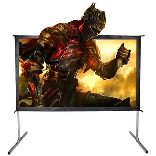 "120"" 16:9 HD Projector Screen 4K Movie Theater Ready Portable Foldaway Projector Screen Front Projection"