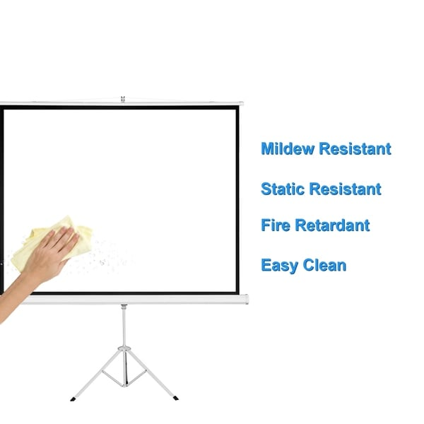 "HD 84/"" Projector 16:9 Projection Screen 1.3 Gain Pull Up Portable Tripod US"