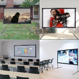 "90"" 16:9 HD Projector Screen 4K Movie Theater Ready Portable Foldaway Projector Screen Front Projection"