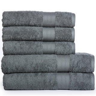 Cotton Oversize Bath Sheets and Bath Towels (5 Pack) (More options available)