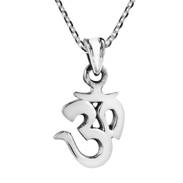 Shop Handmade Adorable Little Aum Or Om Symbol Sterling Silver