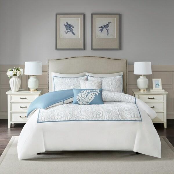 Harbor House Boxton Blue 5 Piece Cotton Duvet Cover Set