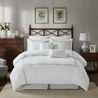 Harbor House Burke Taupe 6 Piece Oversized Cotton Comforter Set