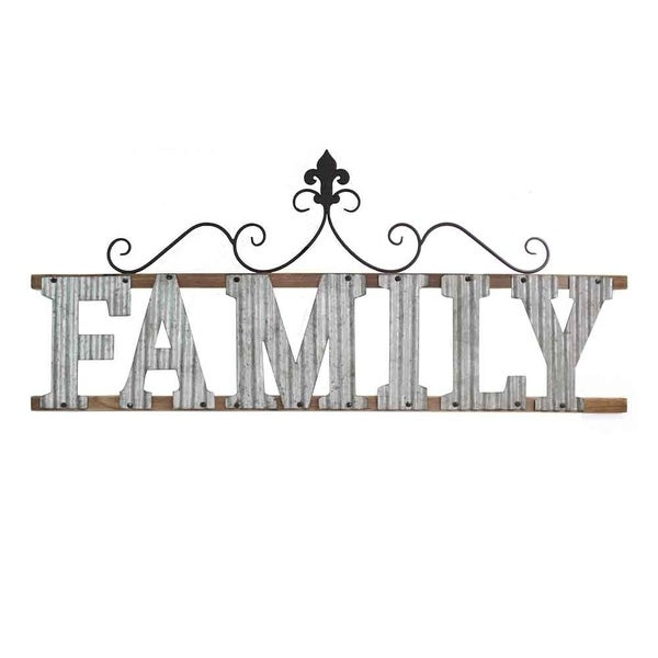 Stratton Home Decor Family Metal Wall Sign - Free Shipping Today ...