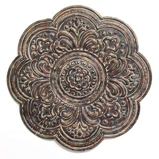 Stratton Home Decor Rustic Bronze Medallion Wall Decor