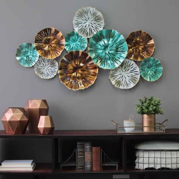 Stratton Home Decor Metal Plates Wall Decor Overstock 20738648