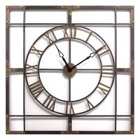 Stratton Home Decor Large Industrial Wall Clock