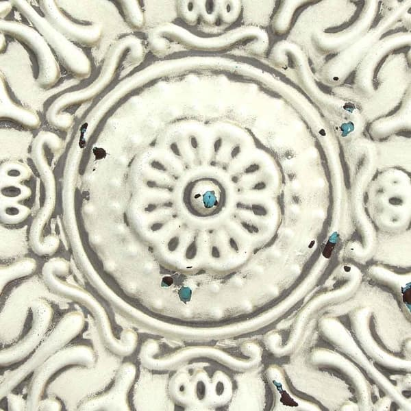 Stratton Home Decor Small White Medallion Wall Decor Overstock 20738699