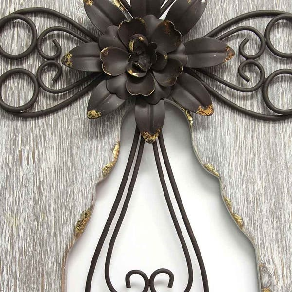 Stratton Home Decor Angel Wings With Cross Wall Decor Overstock 20738702