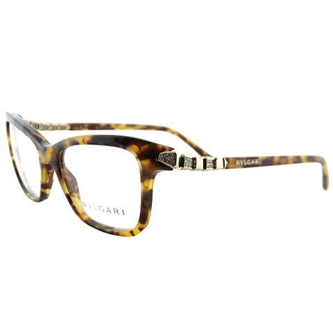 Bvlgari Rectangle BV 4088B 3516 Women Havana Frame Eyeglasses