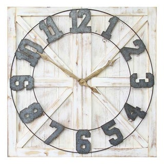 Link to Stratton Home Decor Rustic Farmhouse Wall Clock Similar Items in Decorative Accessories