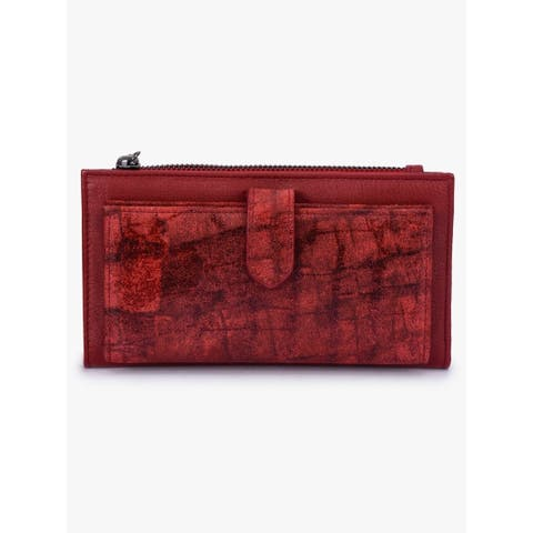 Handmade Phive Rivers Women's Red Leather Wallet (Italy) - One size