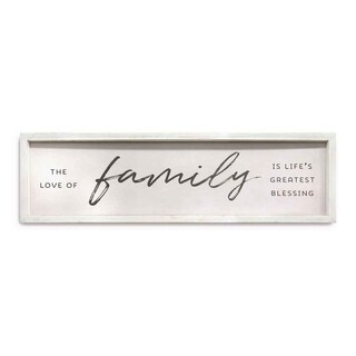 Stratton Home Decor Family is Life's Greatest Blessings Wall Art - White