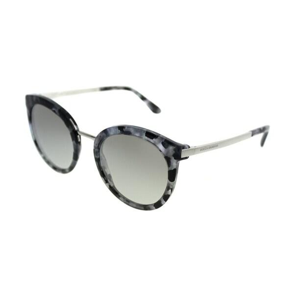 04975fee2d Dolce  amp  Gabbana Round DG 4268 31326V Women Cube Black Silver Frame  Silver Gradient Mirror