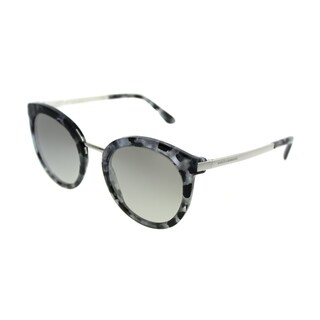 Dolce & Gabbana Round DG 4268 31326V Women Cube Black Silver Frame Silver Gradient Mirror Lens Sunglasses