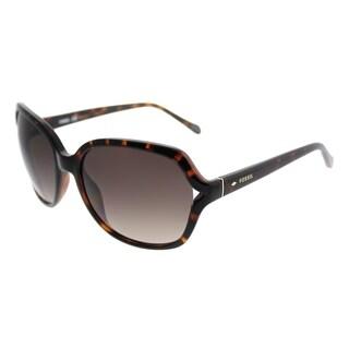 Fossil Fashion 3020/S V08 B1 Women Dark Havana Frame Brown Gradient Lens Sunglasses