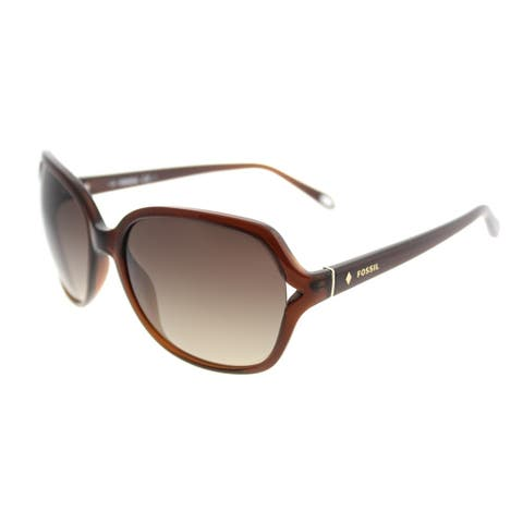 Fossil Fashion 3020/S XL7 B1 Women Transparent Brown Frame Brown Gradient Lens Sunglasses