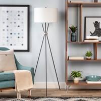 Waterhouse 66.5 in. Black Modern Floor Lamp