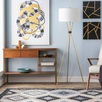 Waterhouse 66.5 in. Brass Modern Floor Lamp