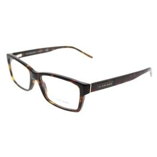 Burberry Rectangle BE 2108 3002 Unisex Dark Havana Frame Eyeglasses