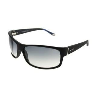 Fossil Wrap 3036/S 1K6 F8 Unisex Matte Black Frame Grey Gradient Lens Sunglasses