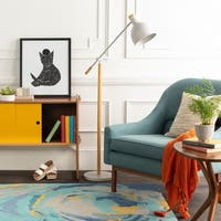 Tabor 58.5-inch Ivory Scandinavian Floor Lamp