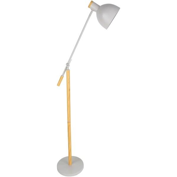 Tabor 58.5 in. Off-White Modern Floor Lamp