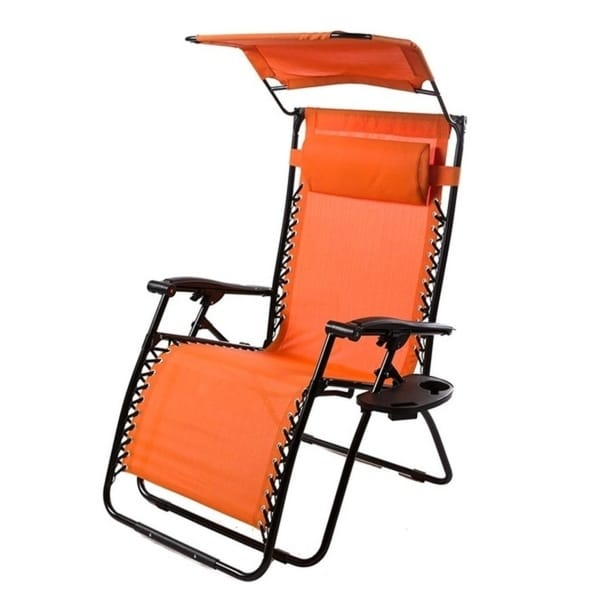 Shop Deluxe Zero Gravity Chair With Awning Table And
