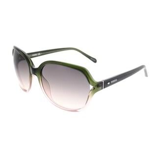 Fossil Fashion 3020/S EX5 WC Women Charcoal Palladium Pose Frame Brown Gradient Lens Sunglasses