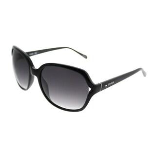 Fossil Fashion 3020/S D28 Y7 Women Black Frame Grey Gradient Lens Sunglasses