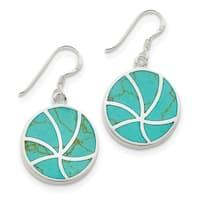 Versil Sterling Silver Turquoise Earrings