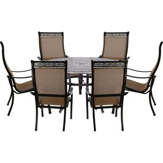 Manor 7-Piece Dining Set with Six Dining Chairs and a 60 In. Cast-top Dining Table