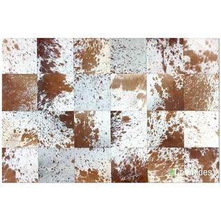 Brown Speckles Cowhide Patchwork Rug