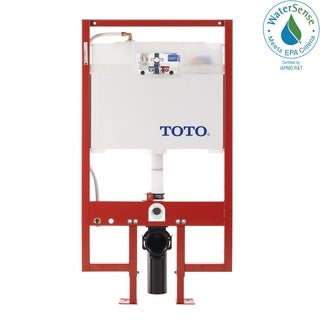 Toto DuoFit In-Wall Toilet Tank Dual-Flush System with PEX Supply, Cotton White (WT153M#01)