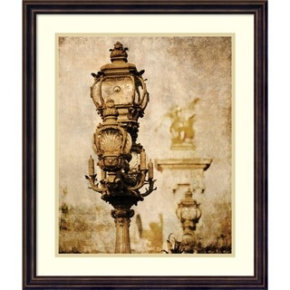 Framed Art Print 'Parisian Street Lamps' by Anon 20 x 24-inch
