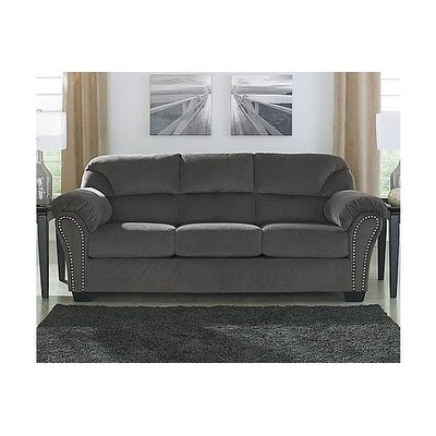Signature Design By Ashley Kinlock Contemporary Charcoal Fabric Sofa Free Shipping Today 26563917