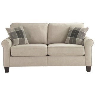 Signature Design by Ashley, Lingen Contemporary Fossil White Loveseat