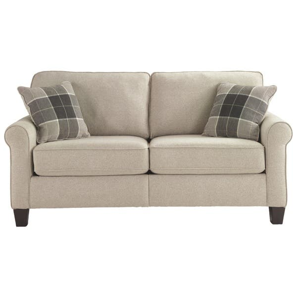 Cool Shop Lingen Contemporary Fossil White Loveseat Ready To Ibusinesslaw Wood Chair Design Ideas Ibusinesslaworg