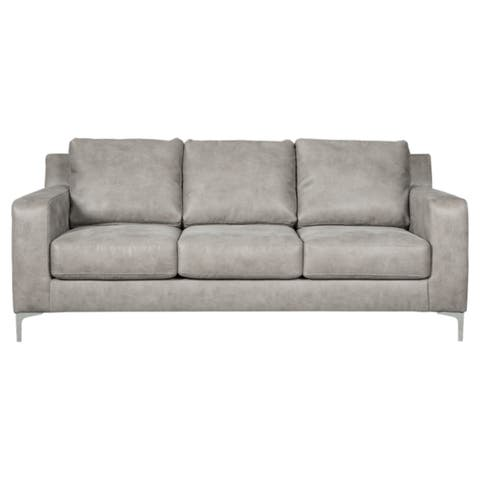 Signature Design by Ashley, Ryler Contemporary Steel Grey Sofa