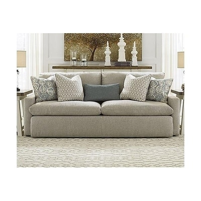 Signature Design By Ashley Melilla Casual Ash Grey Fabric Upholstered Sofa