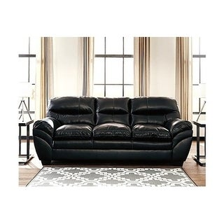 Signature Design by Ashley, Tassler DuraBlend Contemporary Black Sofa