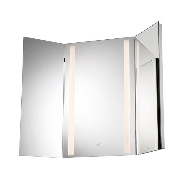 Shop Eurofase Tri Fold Led Small Mirror 34000 014