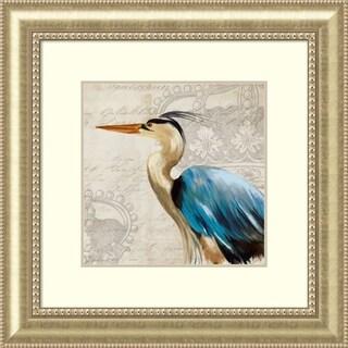 Framed Art Print 'Heron II' by Aimee Wilson 34 x 34-inch